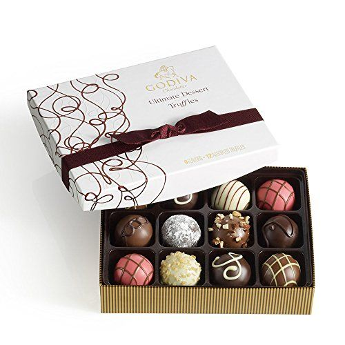 The next time you're invited to a dinner party -- even Thanksgiving dinner -- offer to bring dessert. You'll feel like a hero when you hand your host our 2 GODIVA Chocolatier Ultimate Dessert Truffles Gift Box