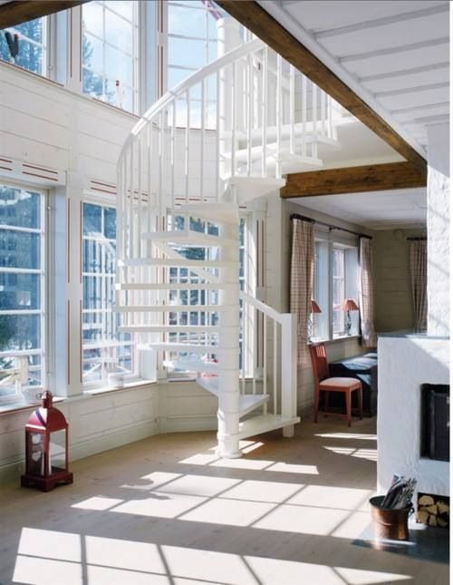 33 best spiral staircases images on pinterest spiral for 2 story spiral staircase