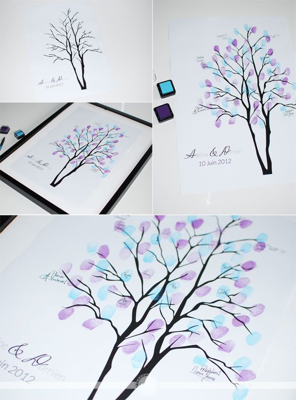 Un nouvel arbre à empreintes à télécharger - Organiser un mariage