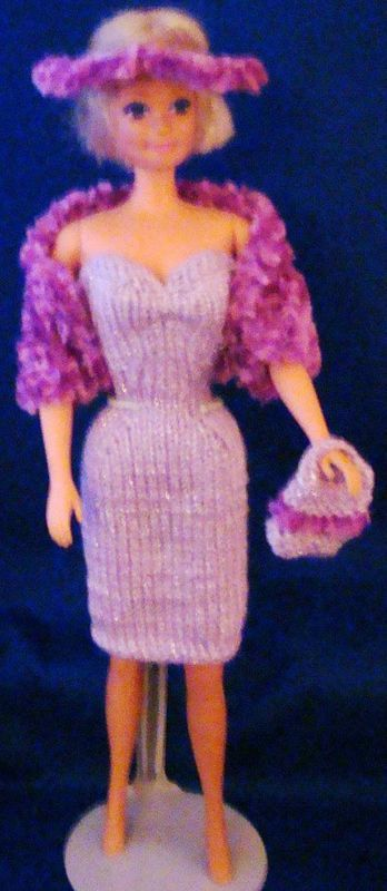 Ladyfingers - Barbie - Strapless Gown, Jacket, Hat & Purse