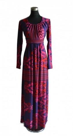 Aztec Flower Jersey Solidify Dress - Abaya Addict