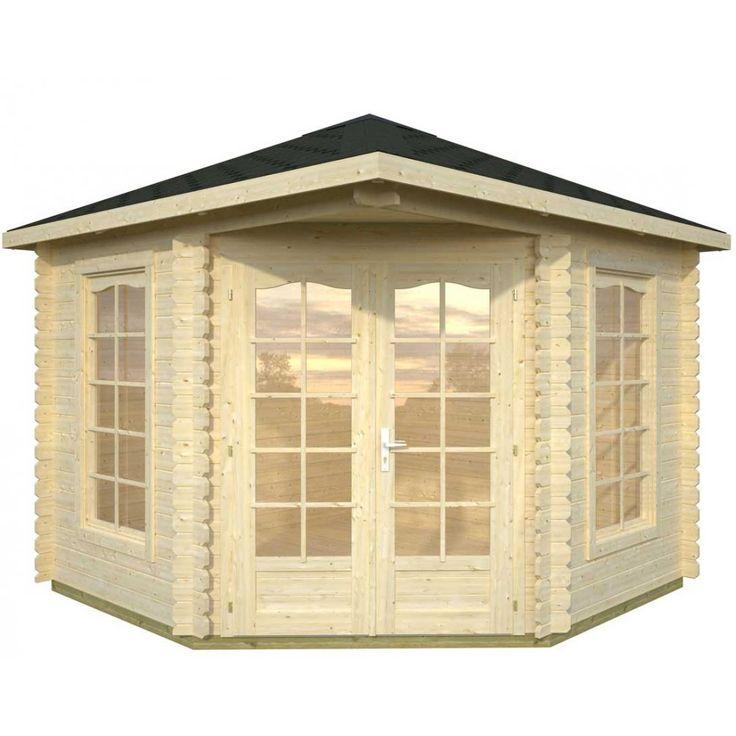 Whitewood Melbourne Corner Log Cabins, Pentagonal Shape