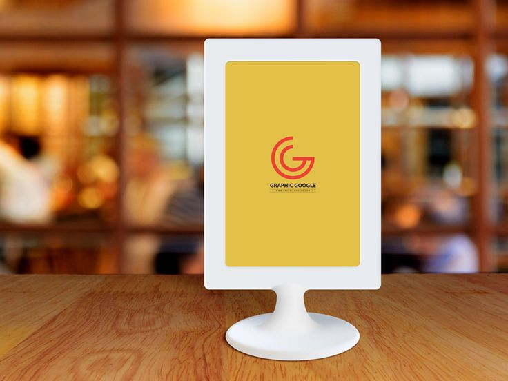 Free Restaurant Menu Frame On Table Mockup by Graphic Google