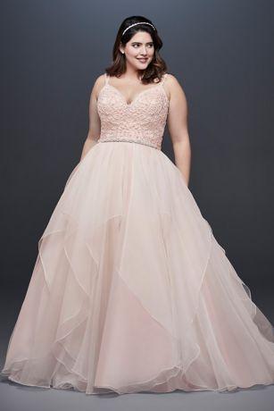 No Train Garza Plus Size Ball Gown Wedding Dress   David's bride