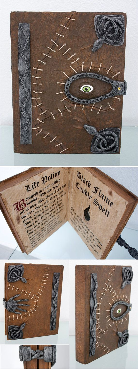 Check out this awesome unique replication of the beloved Sanderson Sisters Spell book from the movie Hocus Pocus! It is complete with a magnetic clasp & two incantations from the movie inside! Hocus Pocus Halloween Party Decorations & Ideas