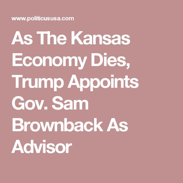 Image result for trump brownback