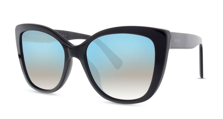 CHRISTINA EL MOUSSA - RUBY - BLACK FRAME - BLUE FLASH LENS