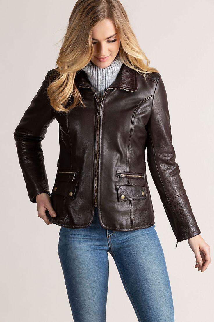 Amelia Argentine Leather Moto Jacket Overland Jackets