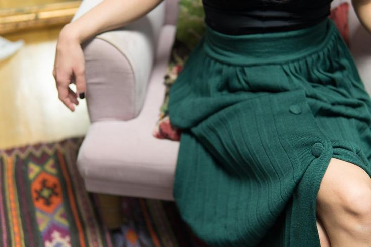 """CHERYL"" pleated skirt in green  #karavan #karavanclothing #karavangirl"