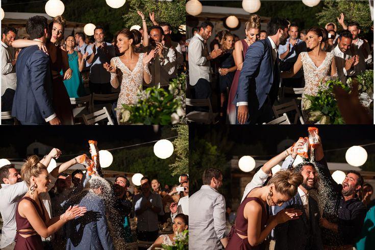 wedding party villa marsan antiparos groom and bride banners just married greek wedding chinese riceballs
