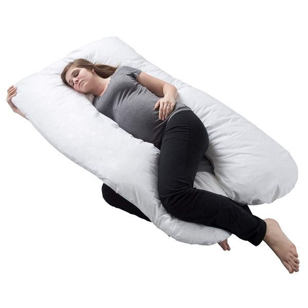 Multifunctional Pregnancy Pillow for Side Sleeper Pregnant Women Sea Blue