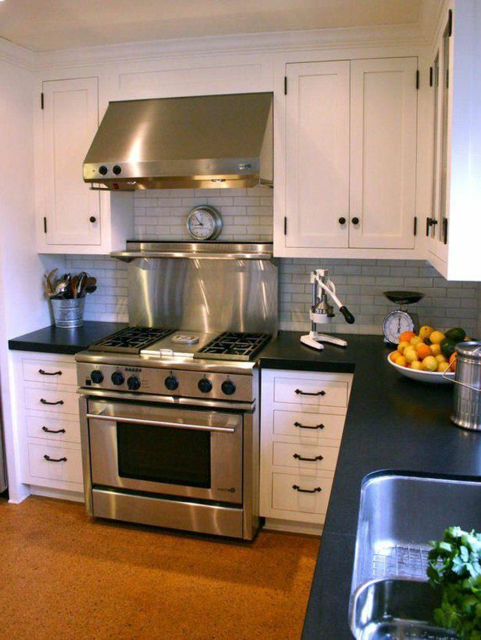 credence inox ikea, crédence cuisine, meubles blancs, meubles de cuisine