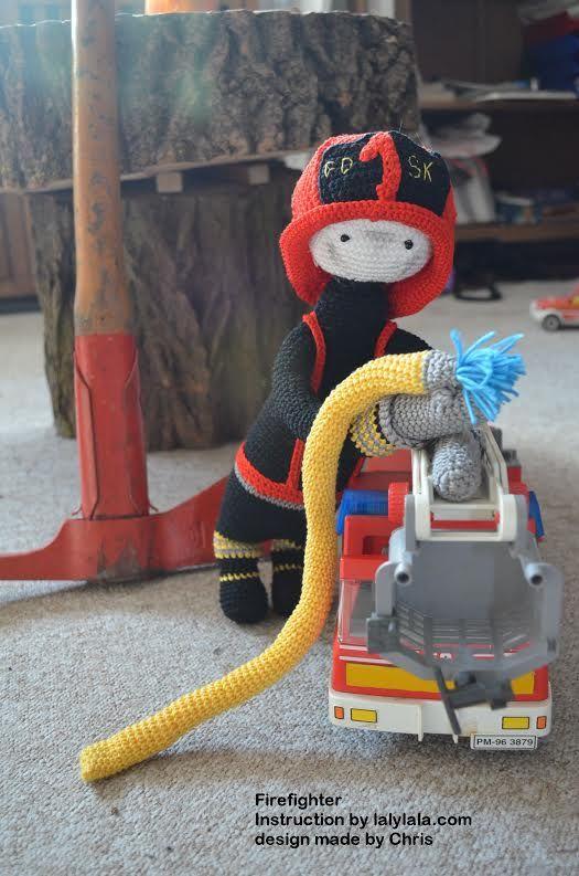 firefighter mod made by Christiane H. / based on a lalylala crochet pattern