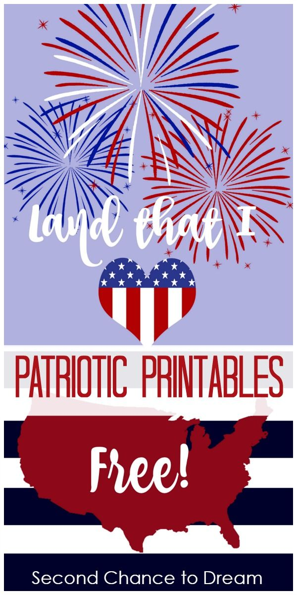 Celebrate the summer holidays with these Free Patriotic Printables. Printables are a great way to add a festive touch for almost no money.