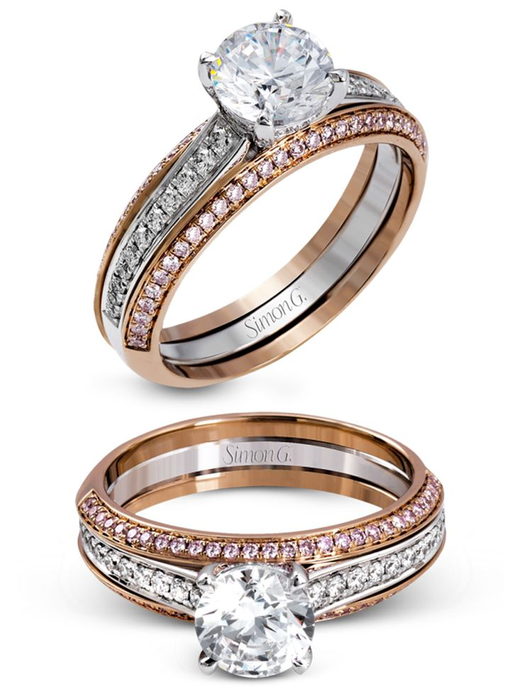 simon g jewelry 2017 wedding trends diamond engagement ring MR2713  white gold rose gold pink diamonds e ring  -- Spring 2017 Jewelry Trends You'll Love