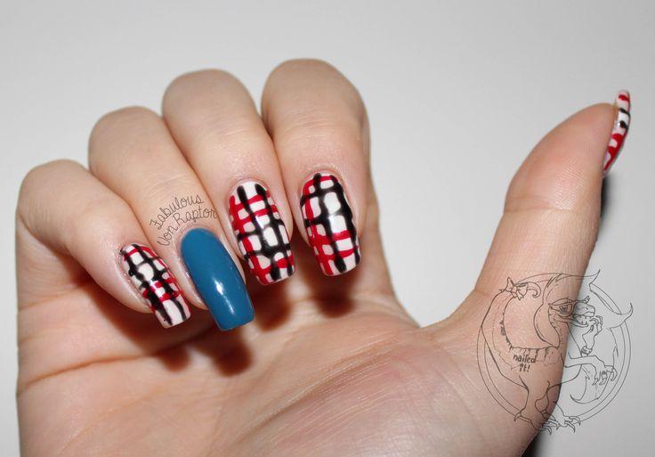 Fabulous Von Raptor - BlurBerry (AKA Burberry) Nail Art | Fashion | Beauty