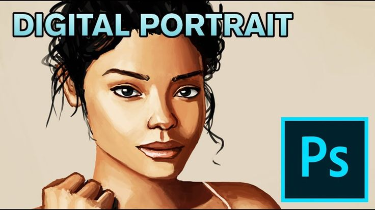 Practicing Portraits - Digital Photoshop Painting  #art #painting #drawing #illustraiton #digital #portrait #photoshop #tutorial #how #to