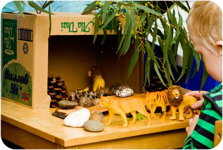 A House for a Tiger - Simple imaginative play set up