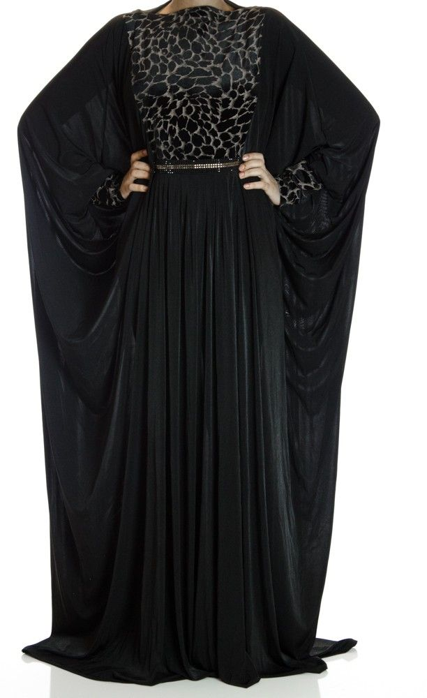 Red Lovers Butterfly Jersey Abaya
