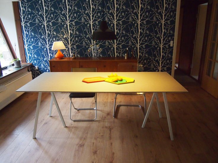 DIY dinner table  8mm Fiber cement board on 22 mm MDF board Standing on Hay Loop