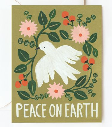 Peace on Earth Card from Rifle Paper Co.