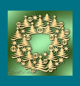 Scroll Saw Patterns :: Holidays :: Christmas :: Wreaths :: Tree wreath -
