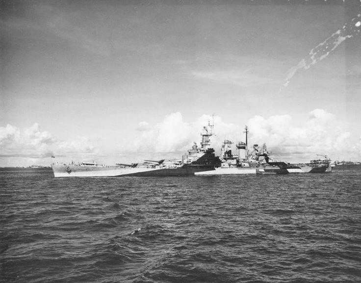 USS North Carolina (BB 55) at Ulithi