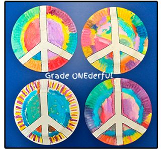 Grade ONEderful: Peace Plate Craft. Easy but fun!