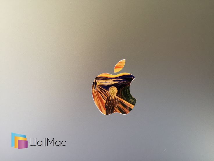 Edvard Munch The Scream Glowing Backlit Apple Logo for MacBooks 2 Decals Stickers per Order by WallMac on Etsy