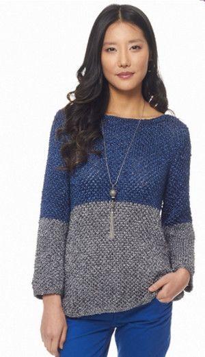 Bonita blusa de tricô em duas cores