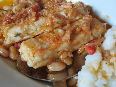 Sei chicchi di melograno: Filetti di merluzzo con pomodori e cannellini