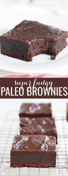 Super fudgy Paleo brownies, made with plenty of chopped chocolate, almond flour and a touch of coconut flour. They'll be your new favorite—whether you're Paleo or not!