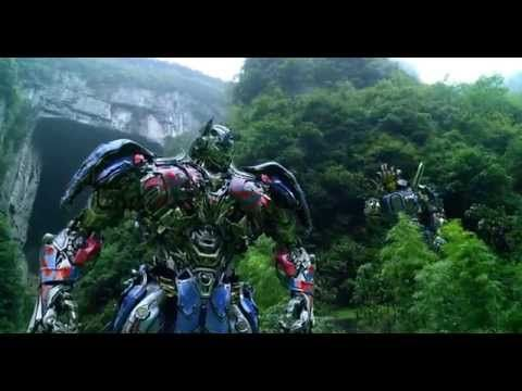 Transformers: Age of Extinction - Optimus Prime Speech/The Battle Begins/Dinobots Charge - YouTube