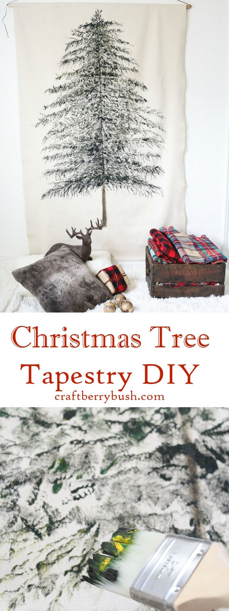 DIY Christmas Tree Tapestry from MichaelsMakers  Craftberrybush