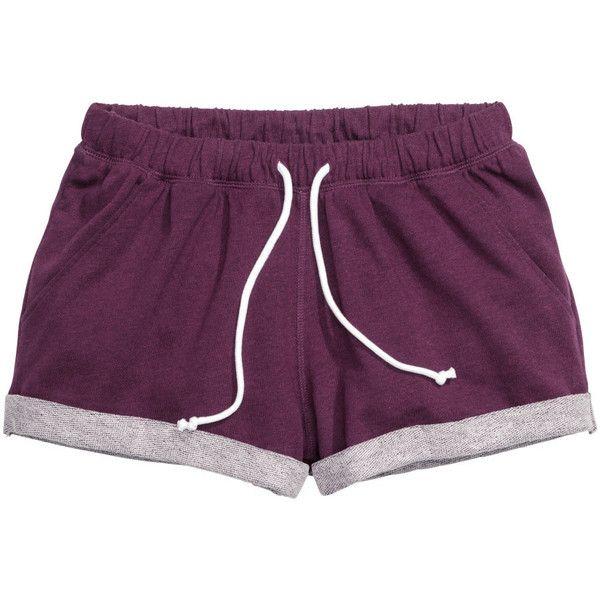 Sweatshirt shorts $14.99 (€14) ❤ liked on Polyvore featuring shorts, bottoms, pajamas, clothing - shorts, mini shorts, hot pants, micro shorts, hot short shorts and short shorts