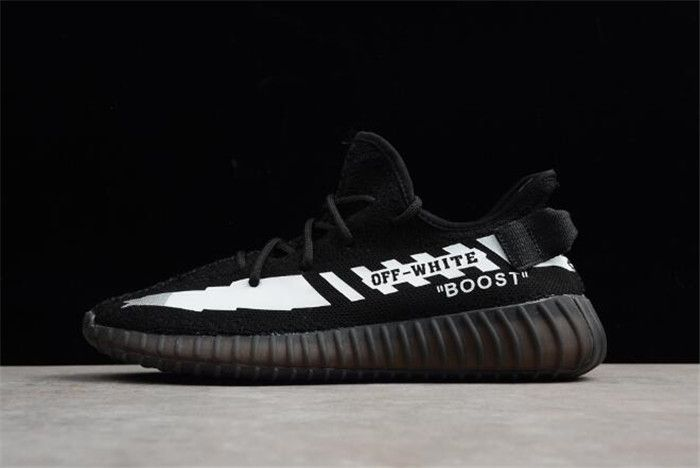 5d710881b Top quality Off-White x adidas Yeezy Boost 350 V2 Black White Men  s and  Women  s Running Shoes New Product