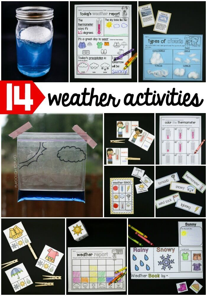 14 awesome weather activities for kids! Fun science experiments and activities for preschool, kindergarten and first grade.