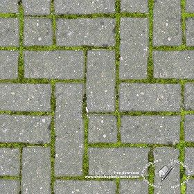 Textures Texture seamless | Concrete block park paving texture seamless 18836 | Textures - ARCHITECTURE - PAVING OUTDOOR - Parks Paving | Sketchuptexture