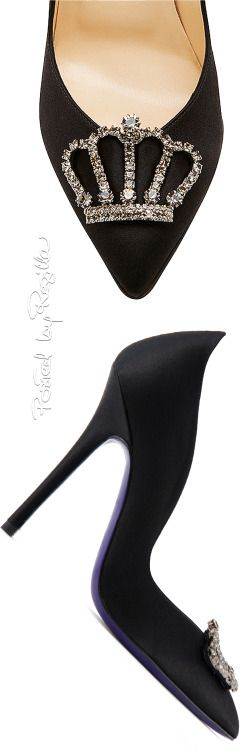 fabulous heels with a crown embellishment.