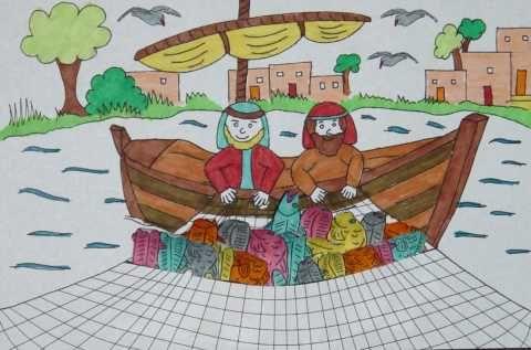 De wonderbare visvangst -vertrouw jij op Jezus?  www.gelovenisleuk.nl