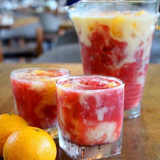 """Fiery Monkey"" communal jug (a delicious blend of soursop, strawberry puree, orange juice, Kishu tangerines.)"