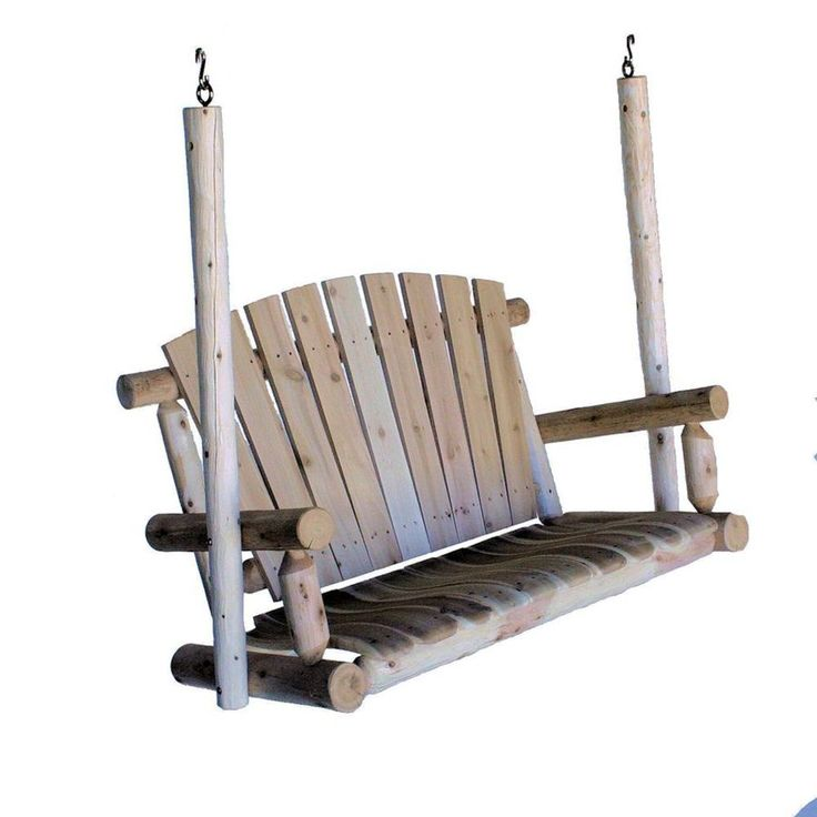 Shop Lakeland Mills 2-Seat Wood Rustic Porch Swing at Lowes.com $346