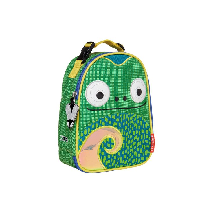 Skip Hop Zoo Lunchie Insulated Lunch Bag - Chameleon, Green