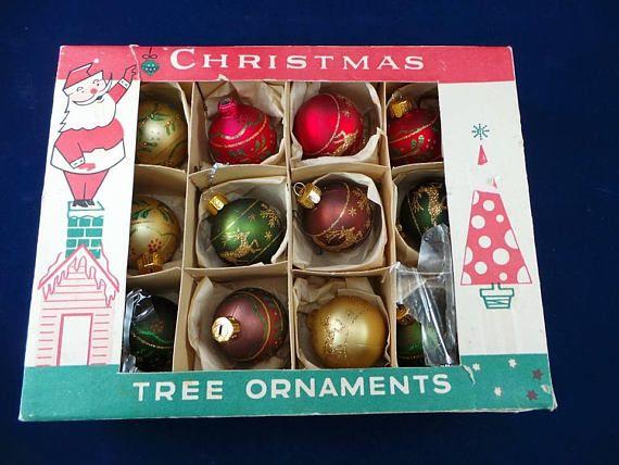 This Listing Is For A Vintage Christmas Tree Ornaments Fantasia Vintage Mercury Glass Christmas Ornaments Glass Christmas Tree Ornaments Vintage Christmas Tree