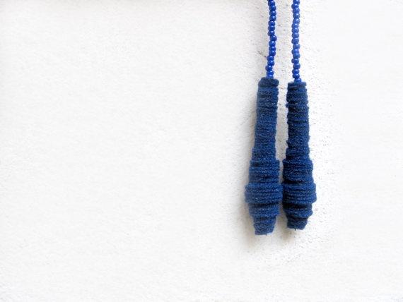 ultramarine blue minimal teardrop earringsholiday by pergamondo