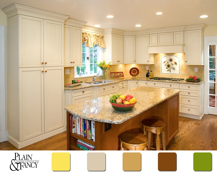 350 best color schemes images on pinterest kitchens for Country kitchen paint colors