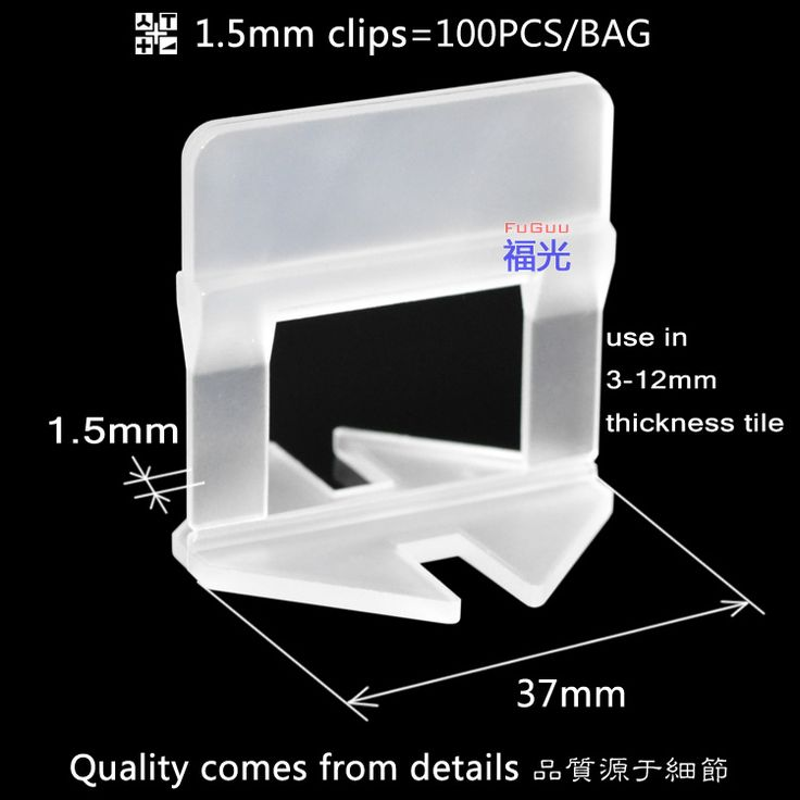 FG-2 tile leveling system 1.5mm clips 100pcs/bags