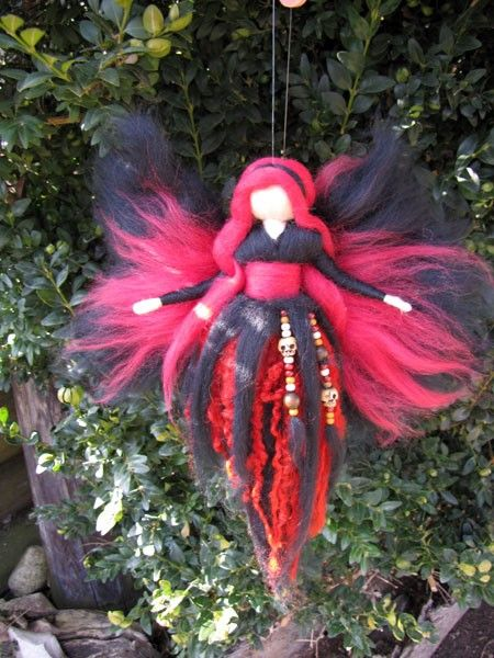 Needle Felted Wool fairy, Guardian fairy, Waldorf inspired fairy doll
