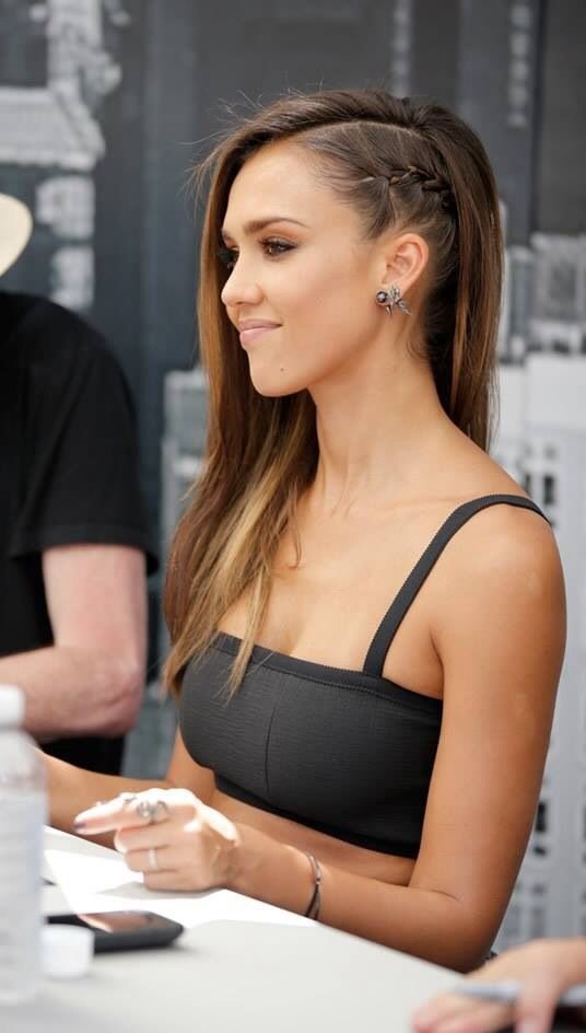Jessica Alba's braid on Comic Con                                                                                                                                                                                 More