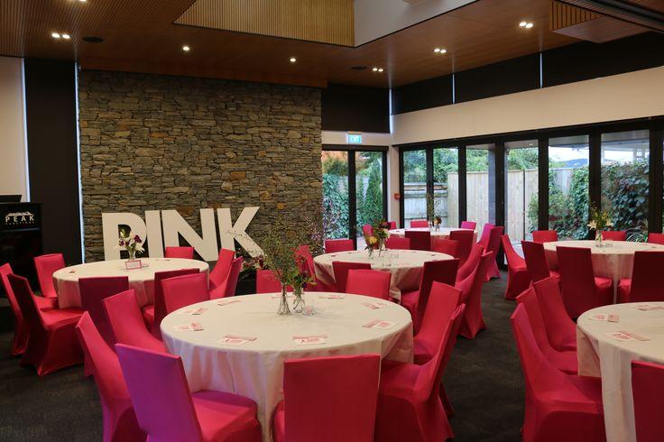 Pink Ribbon Breakfast set up at Peak Functions, May 2017